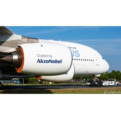 This airplane means a lot to us at AkzoNobel and we're proud to be part of the A380 adventure.