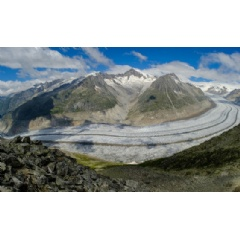 The largest glacier in the Swiss Alps, the Aletschgletscher, is melting rapidly and could disappear altogether by 2100. Geir Braathen