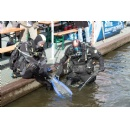 Divers brought hundreds of kilograms of trash out of water in a few hours during the Project AWARE last Saturday