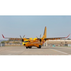 First Canadian C295, to be designated CC-295 by the RCAF, in its distinctive Search and Rescue colours.