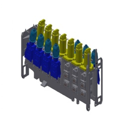 3-D view of withdrawal unit with SRD segments for hard reduction
