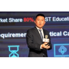 Jeffrey Zhou, President of Huawei Access Network Product Line, delivering a speech during the 2019 BBWF
