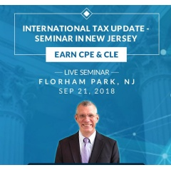 International Tax Reporting and Compliance Update Seminar NJ CPE
