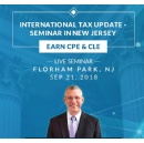 Announcing International Tax Reporting and Compliance Update Seminar, to be held on September 21, 2018 in Florham Park, New Jersey