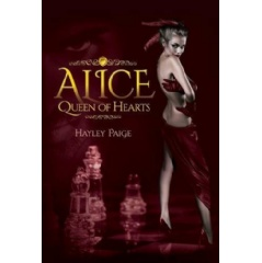 'Alice: Queen of Hearts' by Hayley Paige, available in paperback, hard cover, and eBook