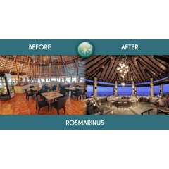 This is what Rosmarinus restaurant will look after the Royal Solaris Cancun renovation project.