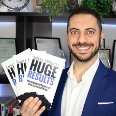 "The author, George Zenon, with his Amazon Best-Selling book ""Small Changes, Huge Results"""
