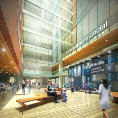 Rendering of the Element Financial Atrium