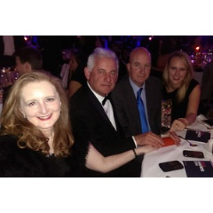Pictured at the PRCA Awards ceremony, left to right, are: Jane Henry, Director of Marketing; Chris McLaughlin; Jonathan Sinnatt, Director of Corporate Communications; and Katie Potts, Corporate Communications Manager.