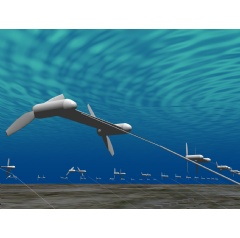 Fig. 1  Underwater Floating Type Ocean Current Turbine System