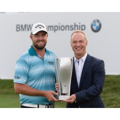BMW Championship 2017 - Marc Leishman, Bernhard Kuhnt, President & CEO BMW of North America