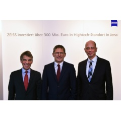ZEISS will invest over €300 million in a new integrated high-tech site in Jena. The world's technology leader in the optics and optoelectronics industries unveiled its plan today in Jena.