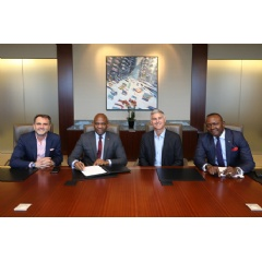 Hilton (NYSE: HLT) and Transcorp Hotels Plc, a subsidiary of Transnational Corporation of Nigeria Plc (Transcorp Plc) signing of a 20-year extension to the current agreement to manage the iconic Transcorp Hilton hotel in Abuja. Credit: Hilton
