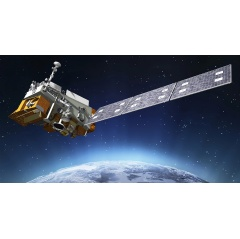 The Joint Polar Satellite System-1, or JPSS-1, spacecraft designed to provide forecasters with crucial environmental science data to provide a better understanding of changes in the Earth's weather, oceans and climate.