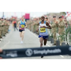 Mo Farah wins the Great North Run (AFP / Getty Images) © Copyright