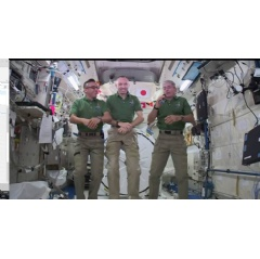 NASA astronauts Joe Acaba, Randy Bresnik and Mark Vande Hei will take questions from students at the U.S. Military Academy in West Point, New York.