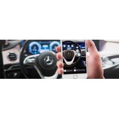 Ask Mercedes: The intelligent virtual assistant. The new service makes use of artificial intelligence (AI) and combines a chatbot with augmented reality functions.