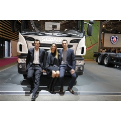 Nicolas, Sophia and Jérôme are looking forward to taking France's first ethanol truck into operation.