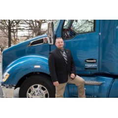 Driver Gregg Softy of Stevens Transport