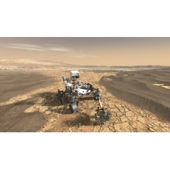 Image Credit: NASA/JPL-Caltech. This illustration depicts NASA's Mars 2020 rover on the surface of Mars.