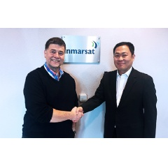 L-R: Ronald Spithout, President, Inmarsat Maritime and Eric Sung, President & CEO, Intellian.