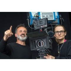 Cinematographer Rui Poças and participant Julia Hoenemann at the Camera Studio Workshop