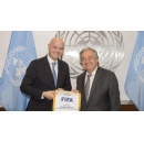 FIFA President meets with United Nations Secretary General