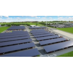 Bentley Motors today announces that construction has started on the UK's largest ever solar-powered car port at Bentley's factory headquarters in Crewe, UK.