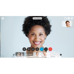 Whether you use Webex meetings or Webex Teams, you'll see all your teammates, in crisp, clean consistent layouts -- whether you are using your laptop, your Cisco video room device or your mobile device.