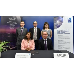 Left to right: Ashley Reeve (Associate, Arup), Maria N. Rueda (CAAi Managing Director), Matthew Margesson (Head of International Operations, CAAi), Stephen Pollard (Director of Operational Performance, Arup) and Stacey Peel (Associate Director, Arup)