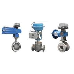 Neldisc butterfly valve, Neles globe control valve and Neles segment valve equipped with ND9000 valve controller.