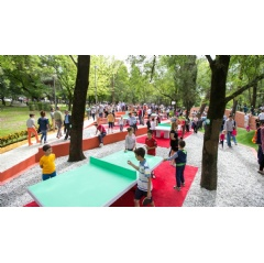Away from the mere opening of playgrounds, becoming more child-friendly can improve a city's economic performance, encouraging interactions that lead to further social integration. Photo by: Municipality of Tirana