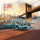 Allianz concludes Formula E race season in New York City with celebration of art and technology
