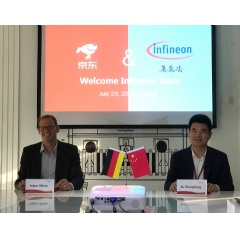 Adam White, Senior Vice President Global Sales of the Power Management & Multimarket Division at Infineon Technologies AG and Xianglong Su, General Manager of Intelligent Manufacturing Department, Electronics and Entertainment Group.