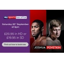 Watch Anthony Joshua vs Alexander Povetkin on Virgin TV