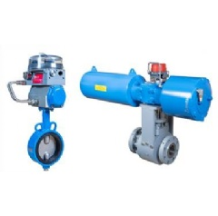 Jamesbury EasyFlow rubber-lined butterfly valve and high performance, heavy duty Neles Scotch-Yoke actuator.