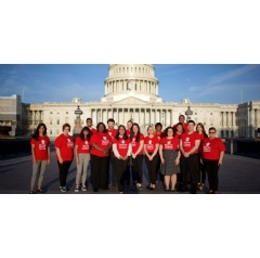 Save the Children and SCAN advocates in front of the U.S. Capitol before meeting with Members of Congress. Photo by Rachel Couch for Save the Children
