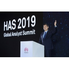 William Xu, Director of the Board and President of the Institute of Strategic Research of Huawei, addressing the Global Analyst Summit 2019.