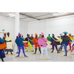 Lubaina Himid, 'Naming the Money' (2004) Installation view of Navigation Charts, Spike Island, Bristol (2017). Courtesy of the artist, Hollybush Gardens, and National Museums, Liverpool. Photo: Stuart Whipps, courtesy of Spike Island.