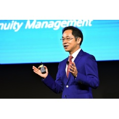 Ryan Ding, Executive Director of Huawei and CEO of the Carrier BG, spoke at the 11th Huawei User Group Meeting