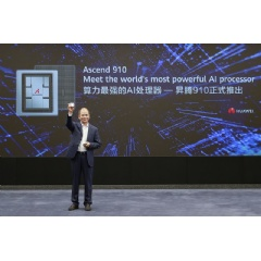 Eric Xu, Huawei's Rotating Chairman, announcing the release of the Ascend 910 AI processor and MindSpore AI computing framework