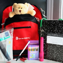 "Parents can put together a ""Go Bag"" with each of their children, which can include a favorite stuffed animal, as well as an emergency contact card and activities to pass the time, like books, crayons or games, if you need to evacuate to a shelter."