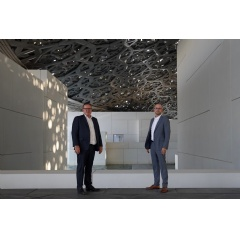 From left to right:  Alexis Lecanuet, Accenture's regional managing director in the Middle East