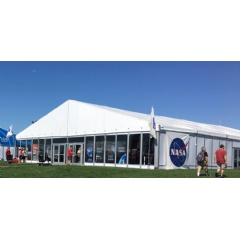 The NASA Pavilion in Aviation Gateway Park is the hub for displays and hands-on activities.