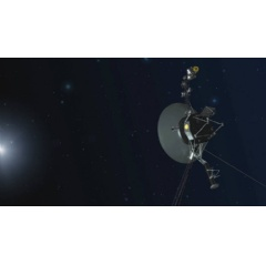 An artist concept depicting one of the twin Voyager spacecraft. Humanity's farthest and longest-lived spacecraft are celebrating 40 years in August and September 2017. Credits: NASA