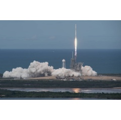 On June 3, 2017, a SpaceX Falcon 9 rocket launched the Dragon spacecraft from Launch Complex 39A at NASA's Kenney Space Center in Florida on the company's 11th commercial resupply services mission to the International Space Station.