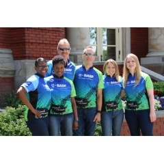 Six of the nine employees who represented Team BASF in the Wish-A-Mile bicycle tour to raise funds for the Make-A-Wish Foundation.