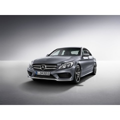 Mercedes-Benz C-Class sedan; selenite grey, Special model, 45.7 cm (18-inch) AMG 5-spoke light-alloy wheels, LED High Performance headlamps, AMG Line exterior.