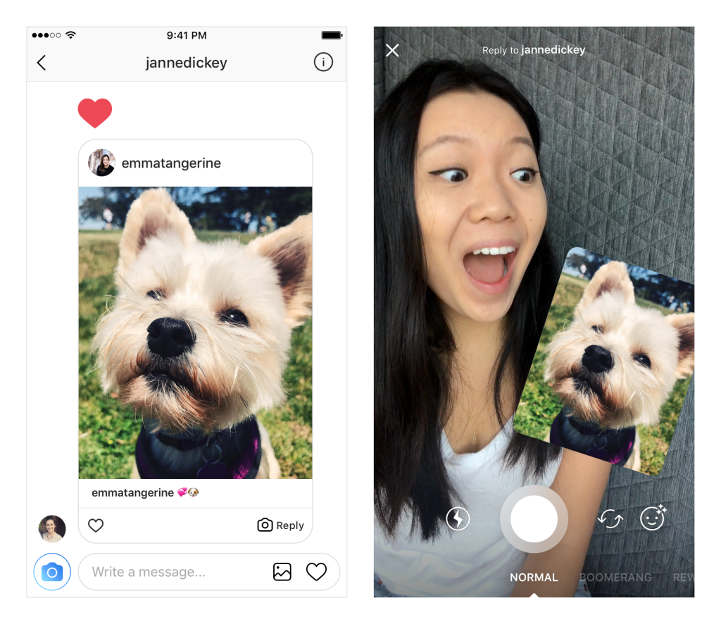 Reply to Instagram messages with pictures and video