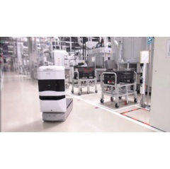 TUG robot from Aethon on manufacturing floor. Picture: Bosch